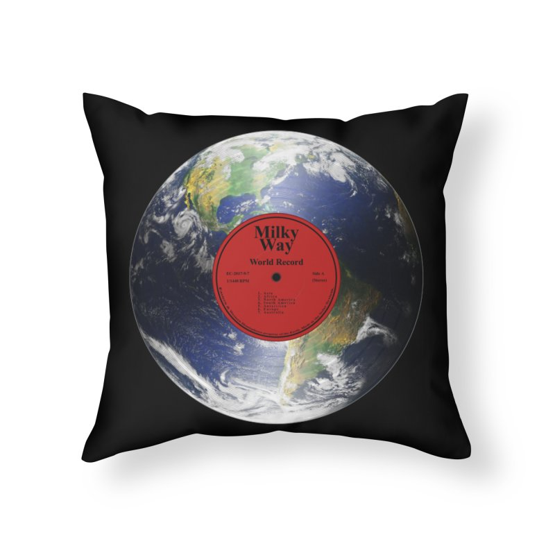 World Record Home Throw Pillow by Eriklectric's Artist Shop