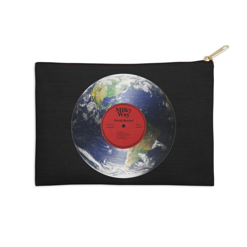 World Record Accessories Zip Pouch by Eriklectric's Artist Shop