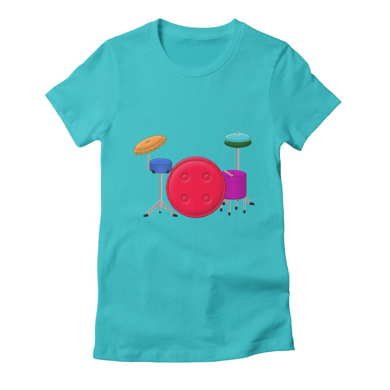 Percushion Women's Fitted T-Shirt by Eriklectric's Artist Shop