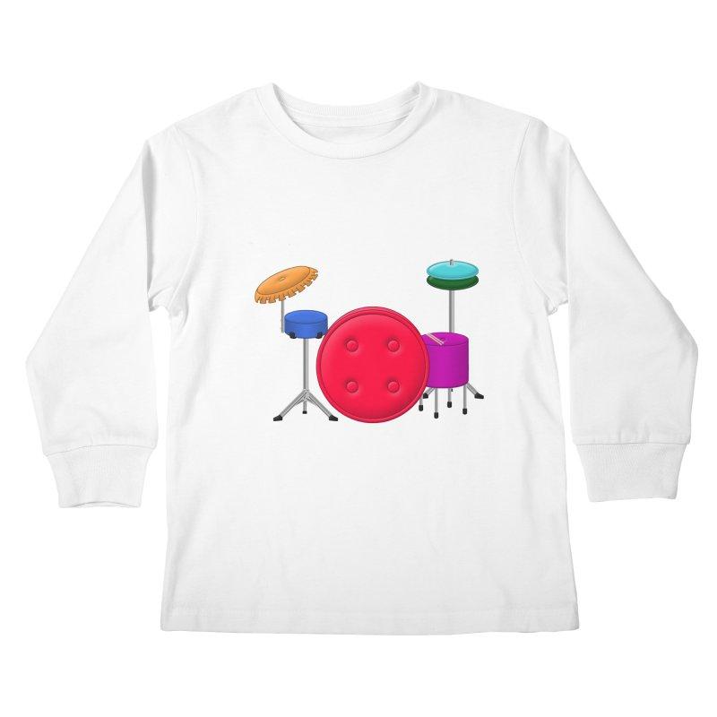 Percushion Kids Longsleeve T-Shirt by Eriklectric's Artist Shop
