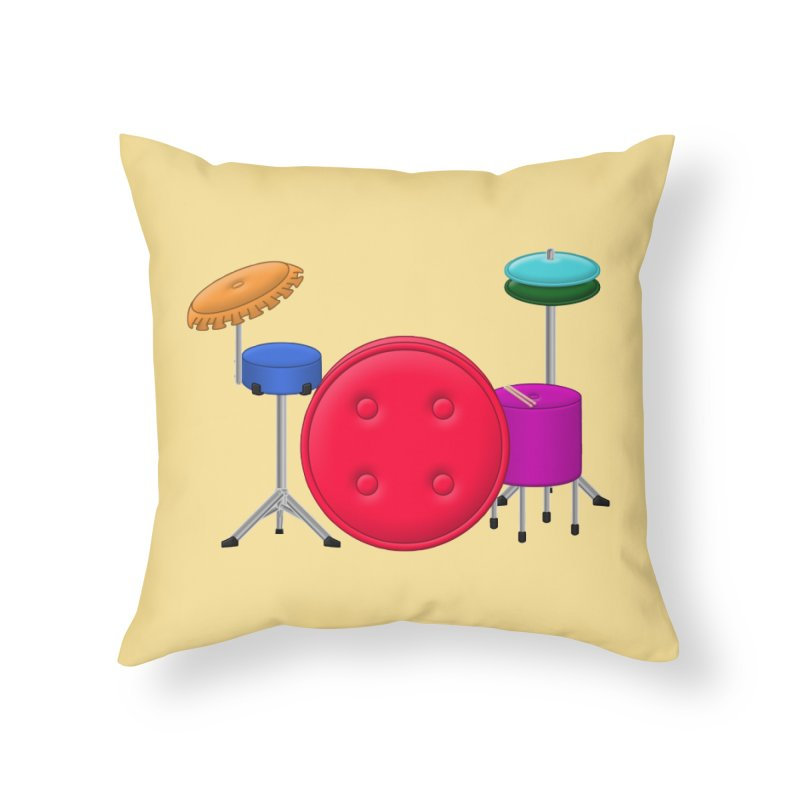 Percushion Home Throw Pillow by Eriklectric's Artist Shop