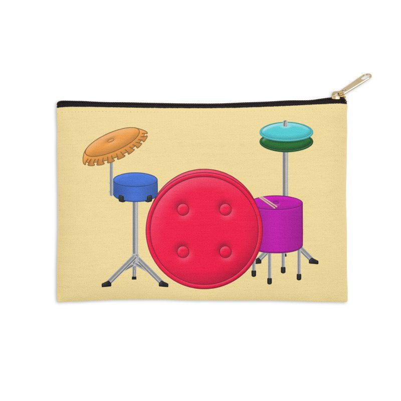 Percushion Accessories Zip Pouch by Eriklectric's Artist Shop