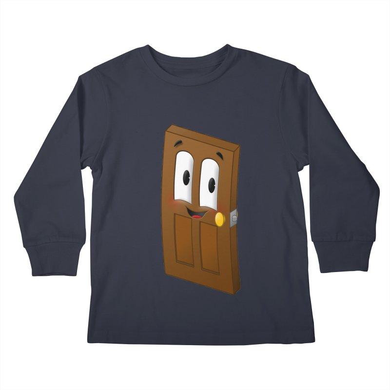 A-door-able Kids Longsleeve T-Shirt by Eriklectric's Artist Shop