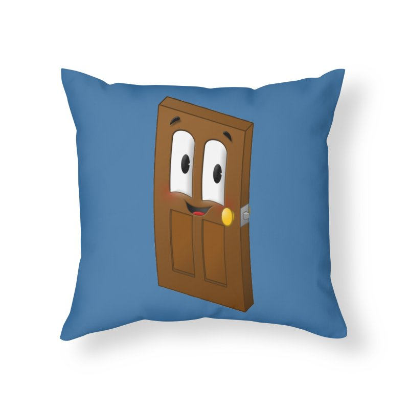 A-door-able Home Throw Pillow by Eriklectric's Artist Shop
