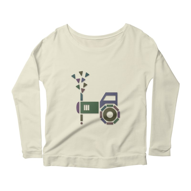 Abstract-or Women's Longsleeve Scoopneck  by Eriklectric's Artist Shop