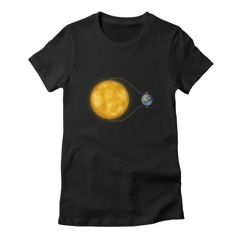 Solar Power Women's Fitted T-Shirt by Eriklectric's Artist Shop