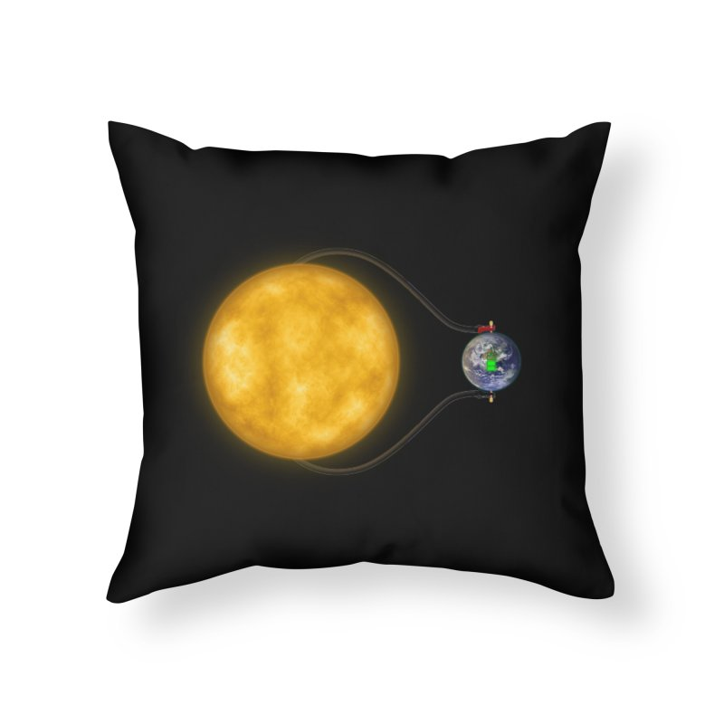 Solar Power Home Throw Pillow by Eriklectric's Artist Shop