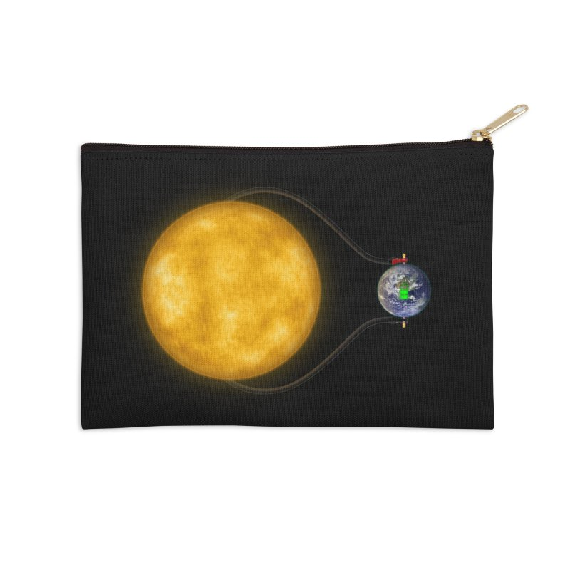 Solar Power Accessories Zip Pouch by Eriklectric's Artist Shop