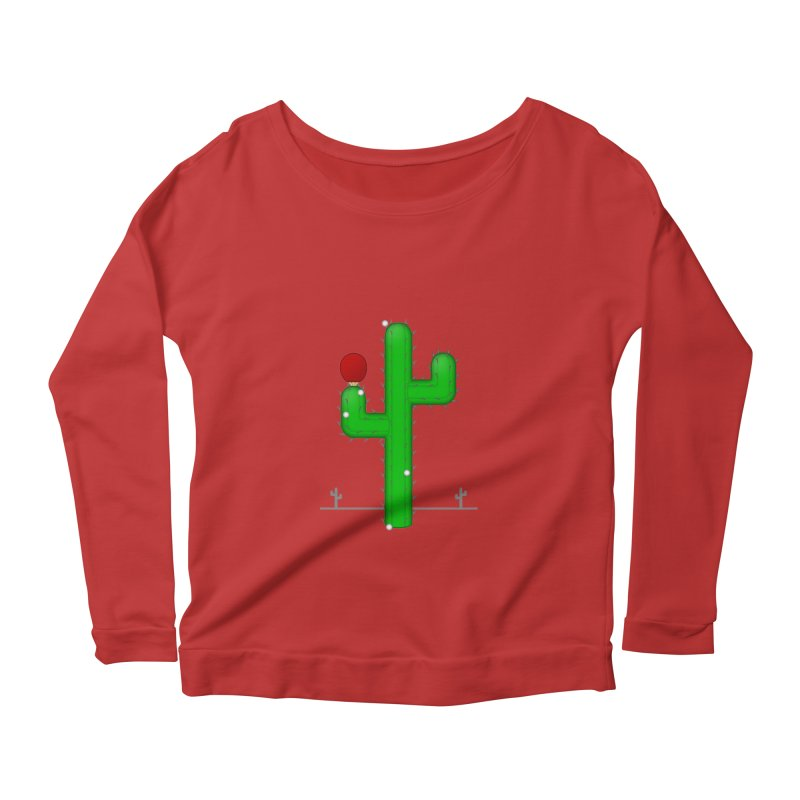 Cactus Makes Perfect Women's Longsleeve Scoopneck  by Eriklectric's Artist Shop
