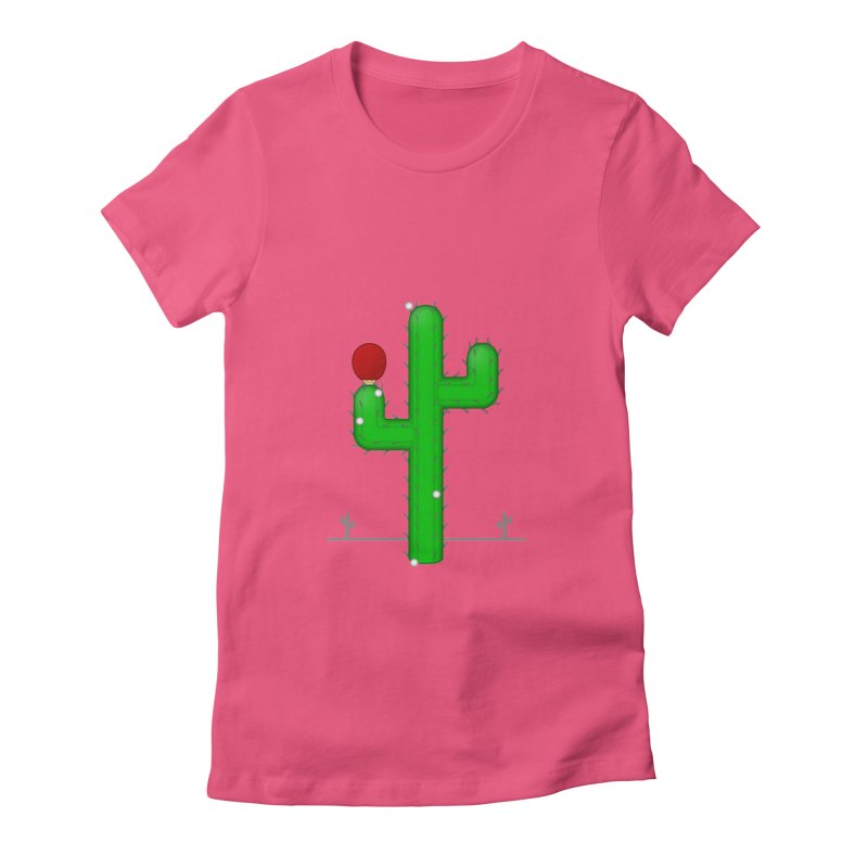 Cactus Makes Perfect Women's Fitted T-Shirt by Eriklectric's Artist Shop
