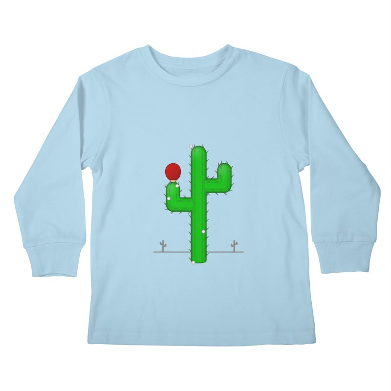 Cactus Makes Perfect Kids Longsleeve T-Shirt by Eriklectric's Artist Shop