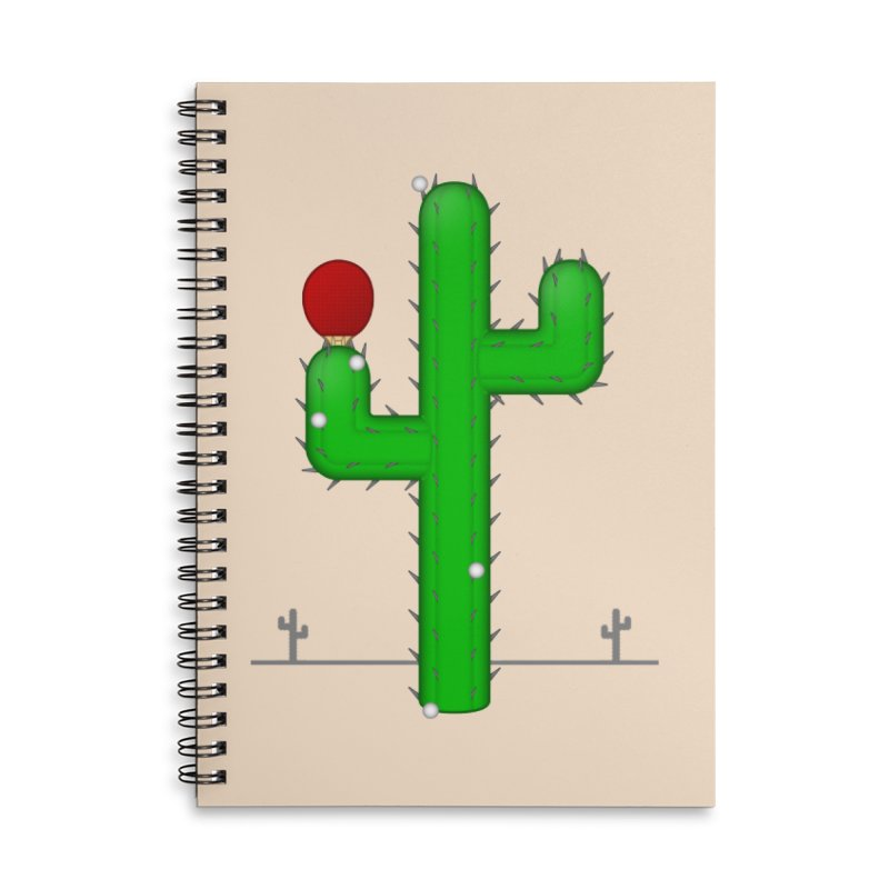 Cactus Makes Perfect Accessories Notebook by Eriklectric's Artist Shop