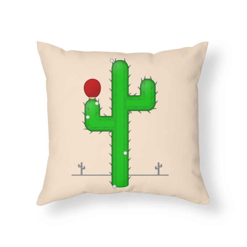Cactus Makes Perfect Home Throw Pillow by Eriklectric's Artist Shop