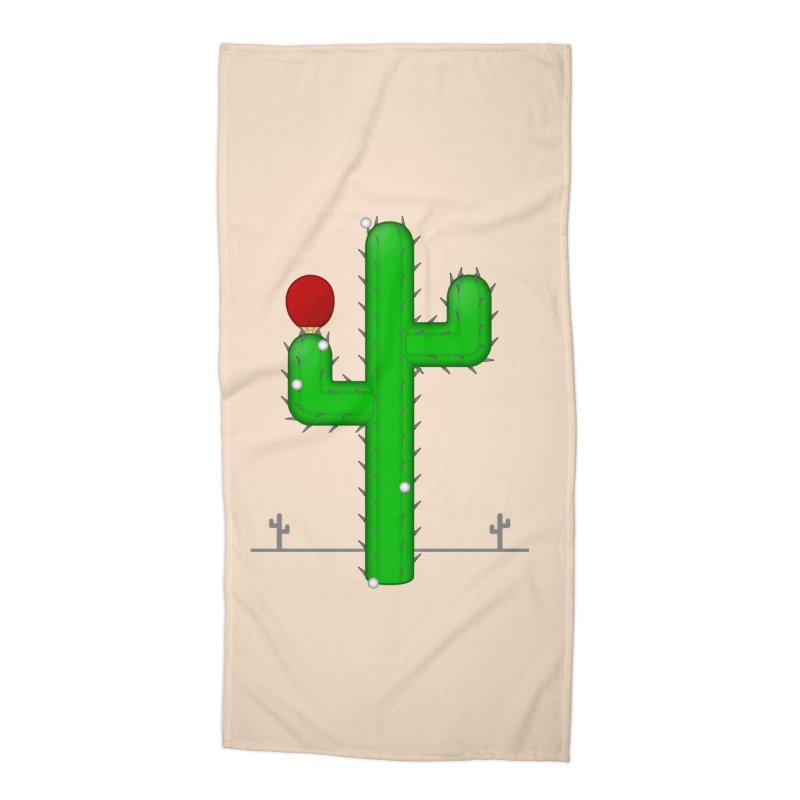 Cactus Makes Perfect Accessories Beach Towel by Eriklectric's Artist Shop
