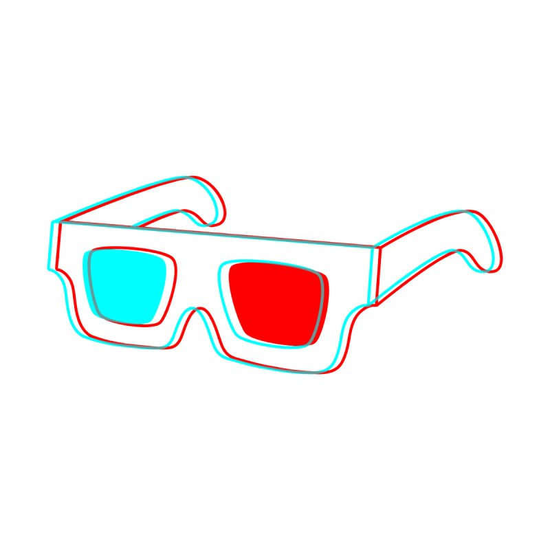 3D Glasses None  by Eriklectric's Artist Shop