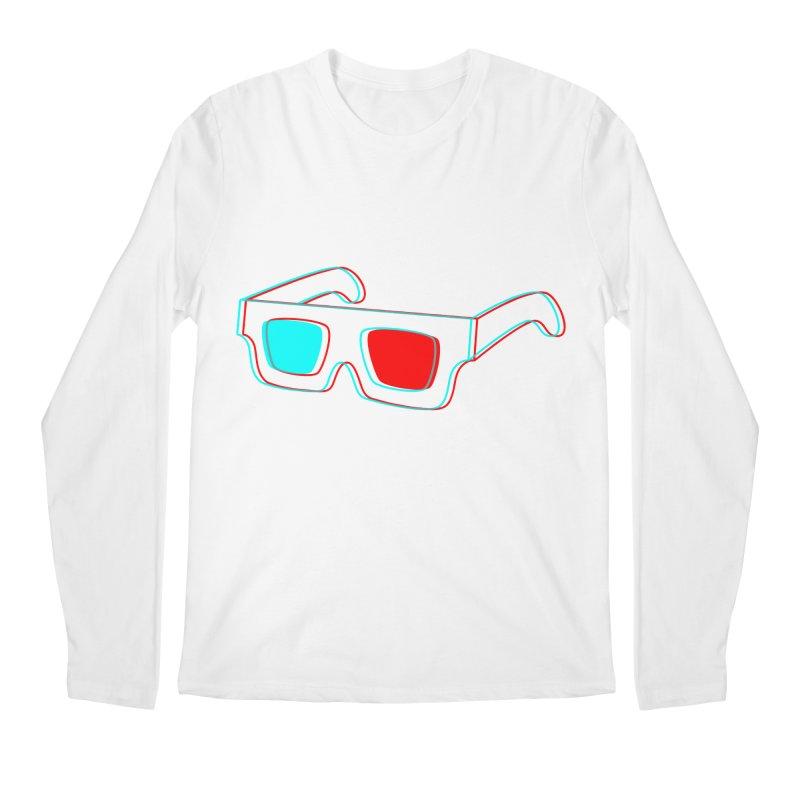 3D Glasses Men's Longsleeve T-Shirt by Eriklectric's Artist Shop