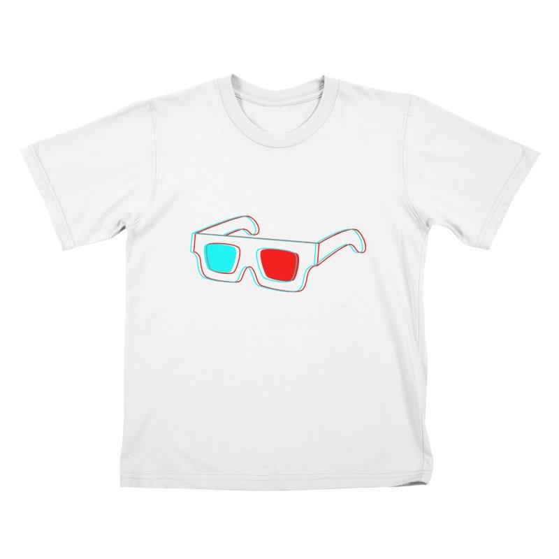 3D Glasses Kids T-Shirt by Eriklectric's Artist Shop
