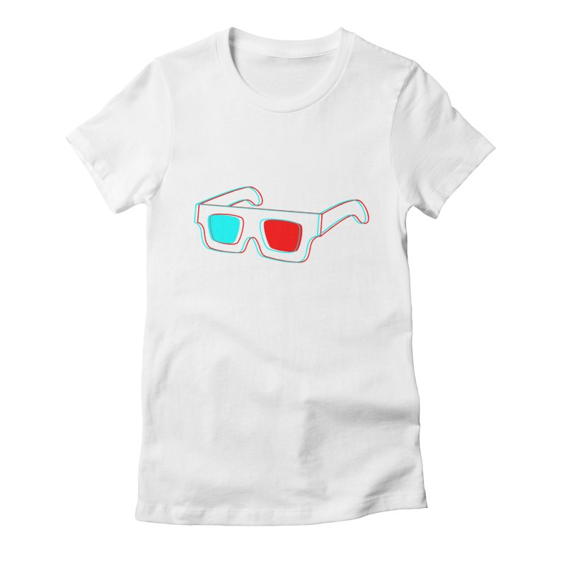 3D Glasses Women's Fitted T-Shirt by Eriklectric's Artist Shop