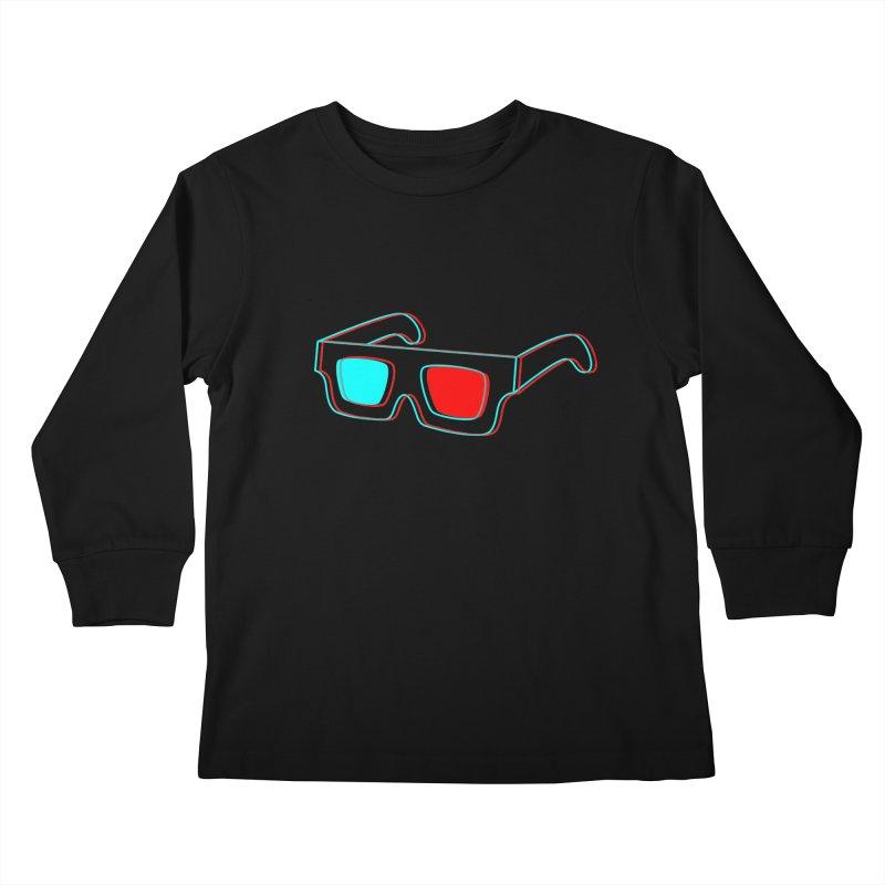 3D Glasses Kids Longsleeve T-Shirt by Eriklectric's Artist Shop