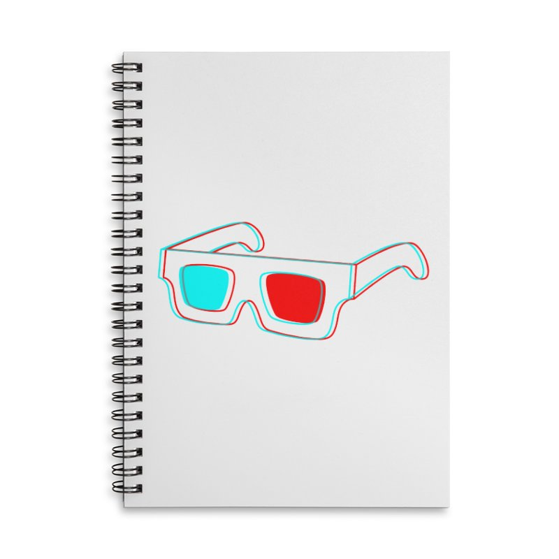 3D Glasses Accessories Notebook by Eriklectric's Artist Shop