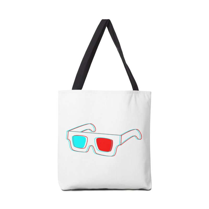 3D Glasses Accessories Tote Bag Bag by Eriklectric's Artist Shop