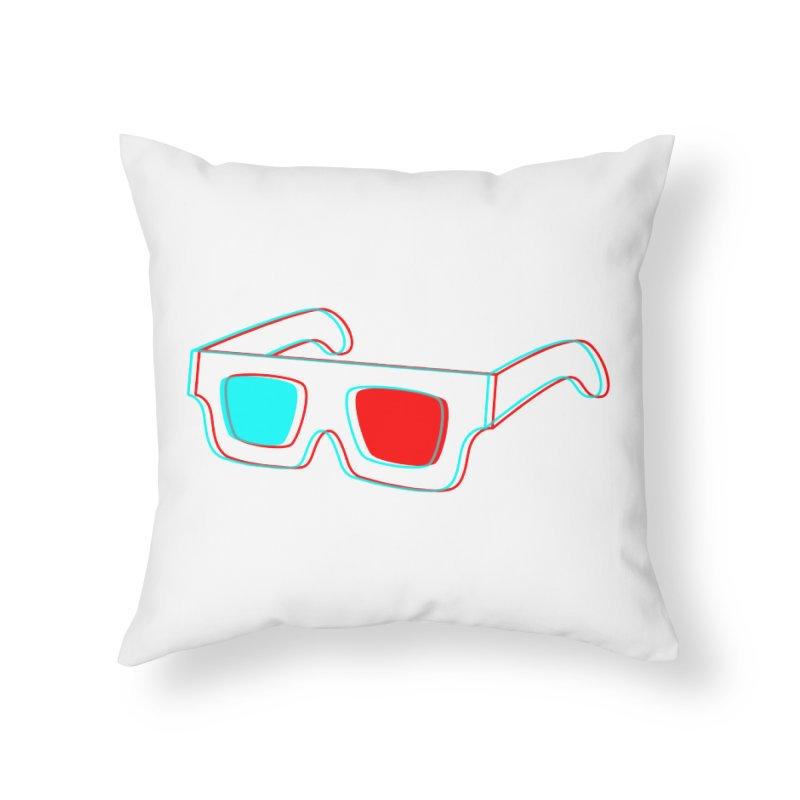 3D Glasses Home Throw Pillow by Eriklectric's Artist Shop