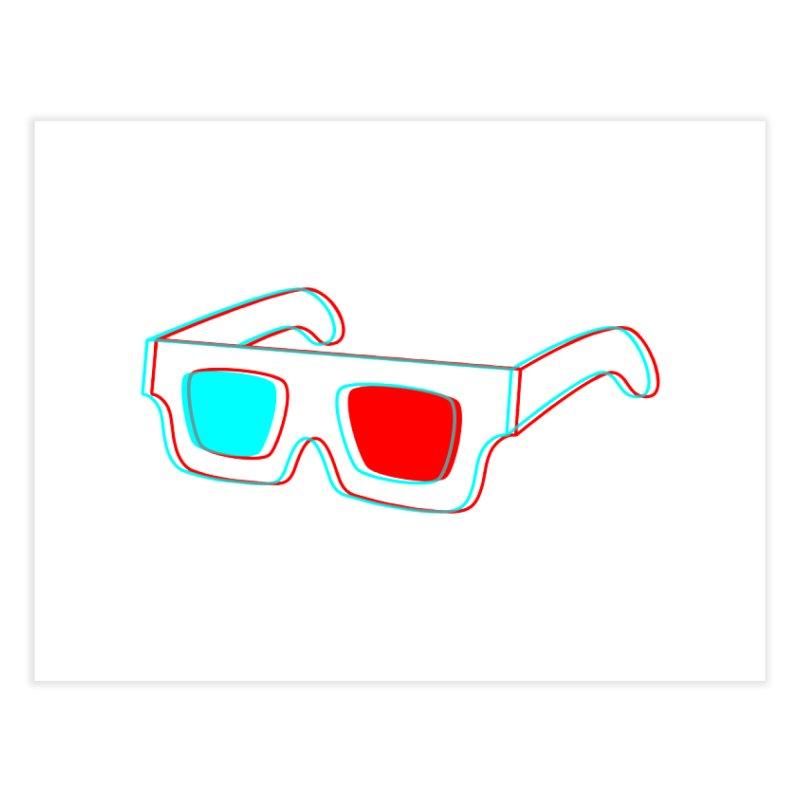 3D Glasses Home Fine Art Print by Eriklectric's Artist Shop