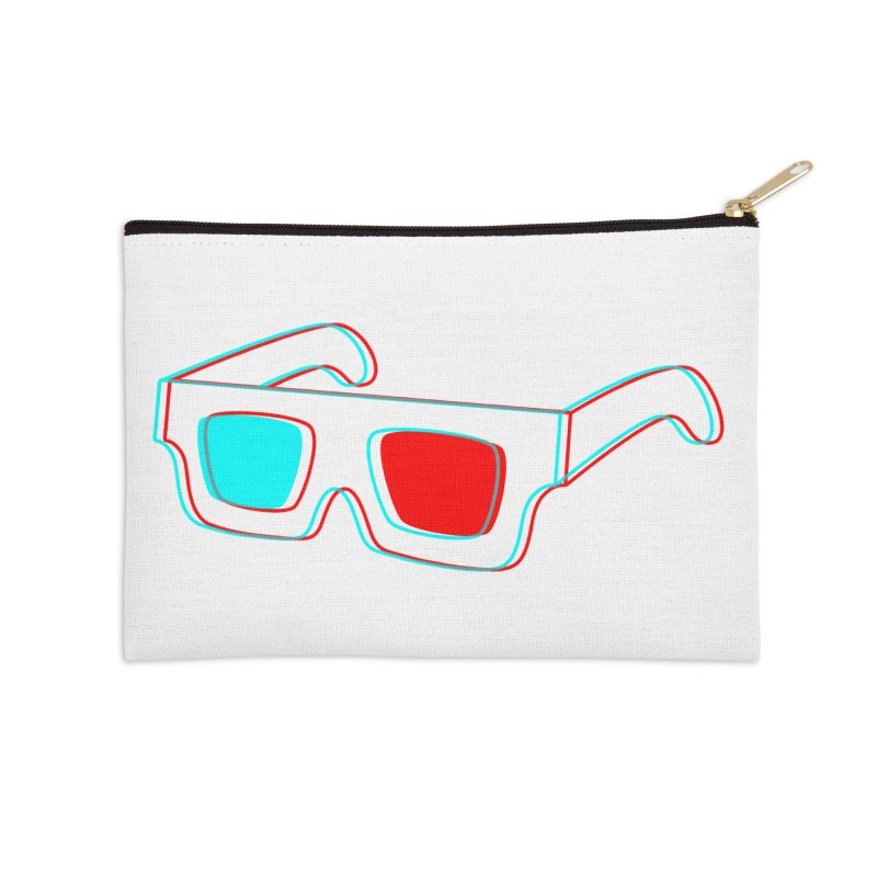 3D Glasses Accessories Zip Pouch by Eriklectric's Artist Shop
