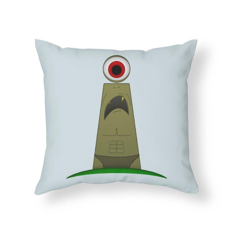i-clops Home Throw Pillow by Eriklectric's Artist Shop