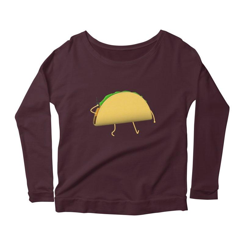 Walkie-Taco Women's Longsleeve Scoopneck  by Eriklectric's Artist Shop