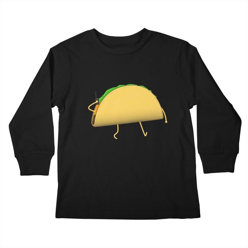 Walkie-Taco Kids Longsleeve T-Shirt by Eriklectric's Artist Shop