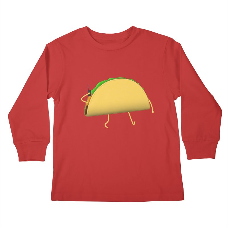 Walkie-Taco Kids Longsleeve T-Shirt by Eriklectric's Artist Shop