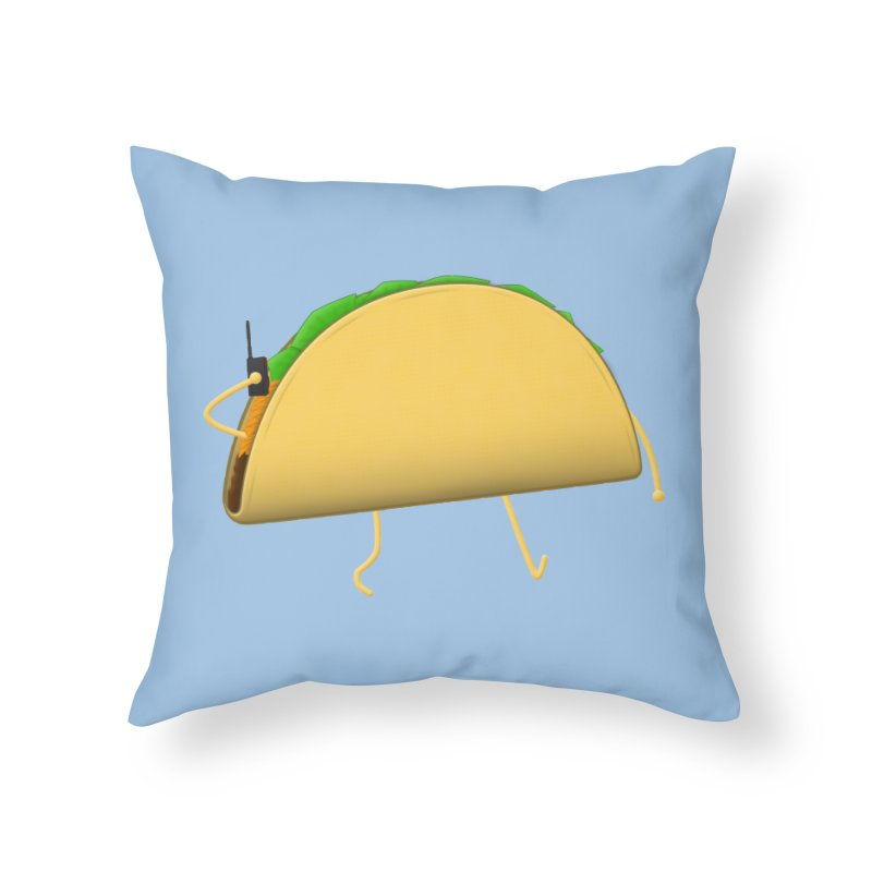 Walkie-Taco Home Throw Pillow by Eriklectric's Artist Shop