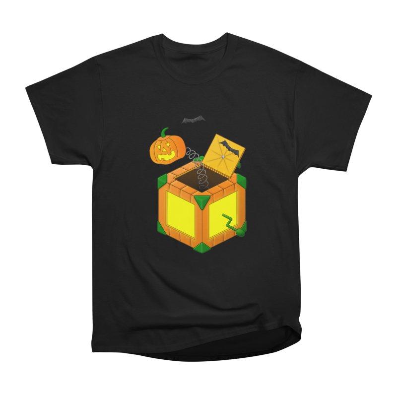 Jack-O-Lantern-In-The-Box Women's Heavyweight Unisex T-Shirt by Eriklectric's Artist Shop