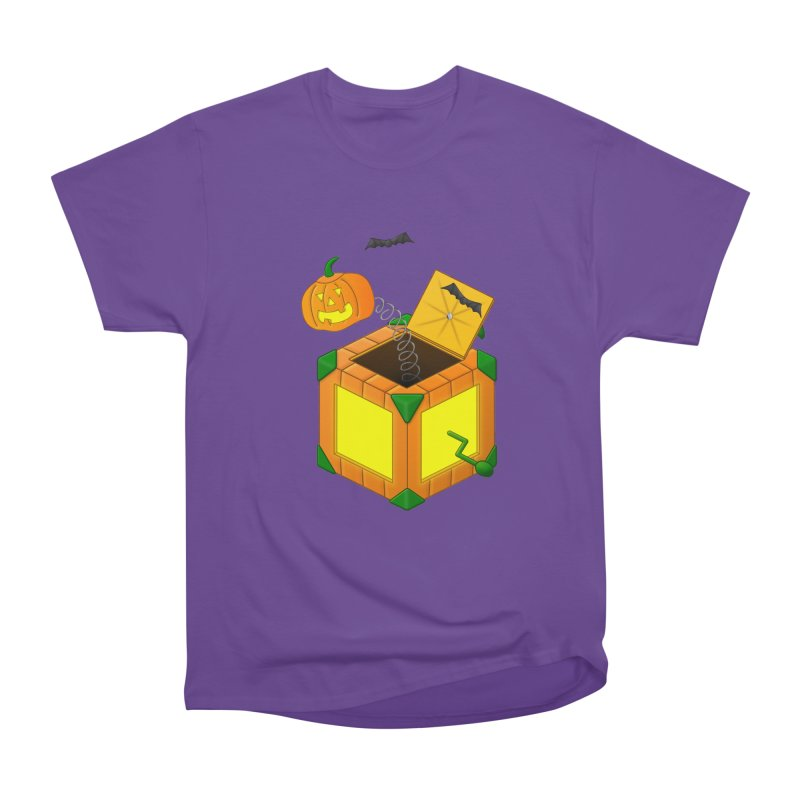 Jack-O-Lantern-In-The-Box Men's Heavyweight T-Shirt by Eriklectric's Artist Shop