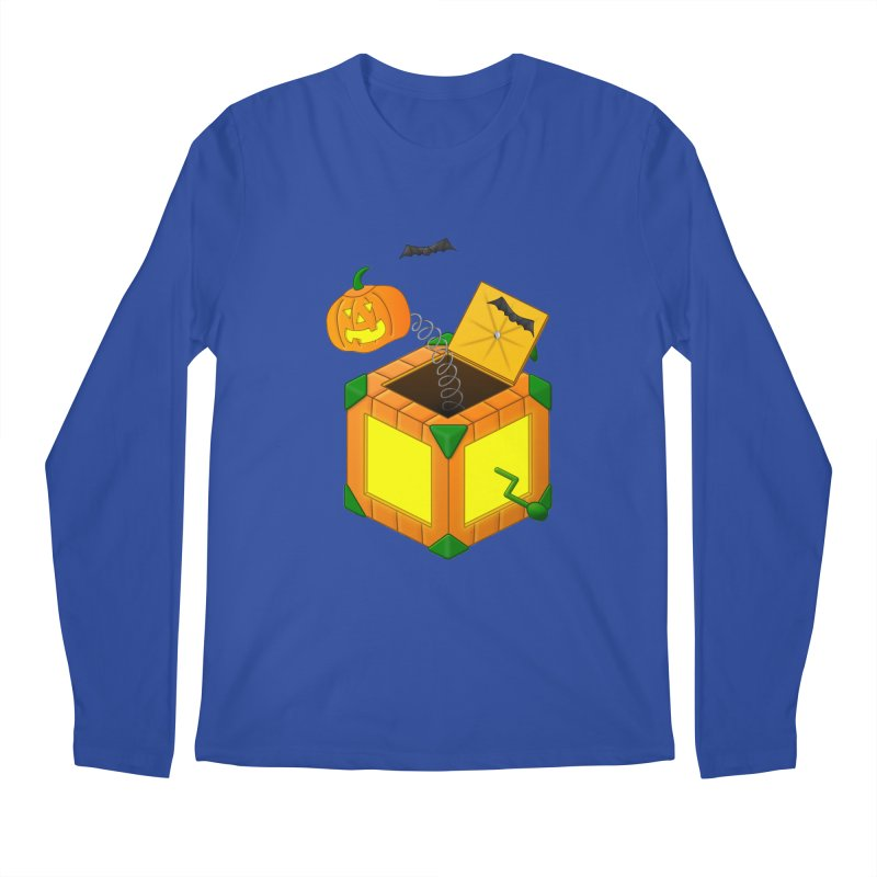 Jack-O-Lantern-In-The-Box Men's Longsleeve T-Shirt by Eriklectric's Artist Shop