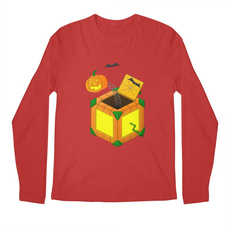 Jack-O-Lantern-In-The-Box Men's Regular Longsleeve T-Shirt by Eriklectric's Artist Shop
