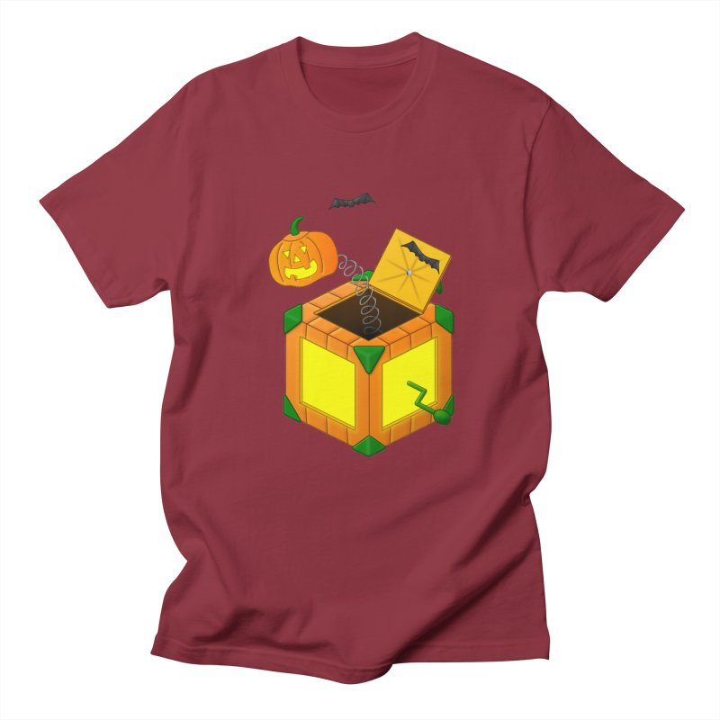 Jack-O-Lantern-In-The-Box Women's Regular Unisex T-Shirt by Eriklectric's Artist Shop