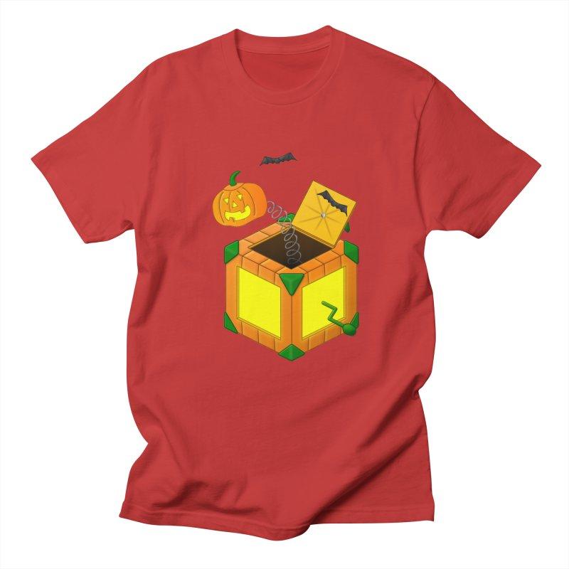 Jack-O-Lantern-In-The-Box Women's Regular Unisex T-Shirt by Eriklectric's Artist Shop