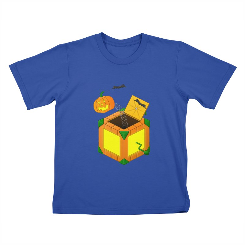 Jack-O-Lantern-In-The-Box Kids T-Shirt by Eriklectric's Artist Shop