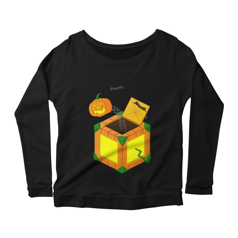 Jack-O-Lantern-In-The-Box Women's Scoop Neck Longsleeve T-Shirt by Eriklectric's Artist Shop
