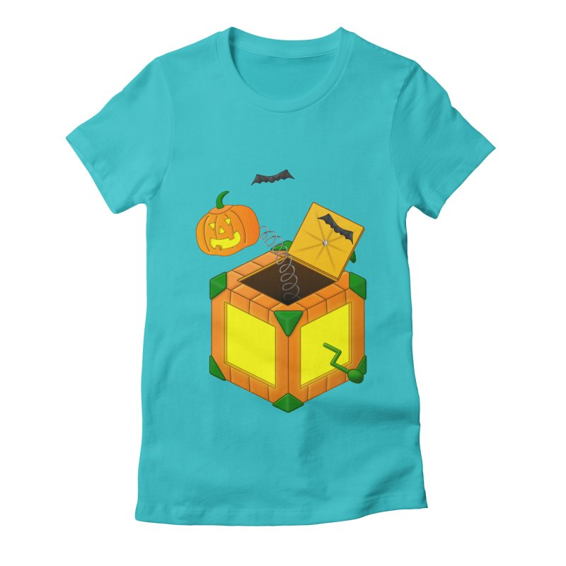 Jack-O-Lantern-In-The-Box Women's Fitted T-Shirt by Eriklectric's Artist Shop
