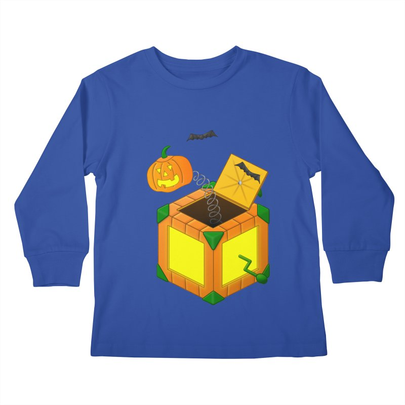 Jack-O-Lantern-In-The-Box Kids Longsleeve T-Shirt by Eriklectric's Artist Shop