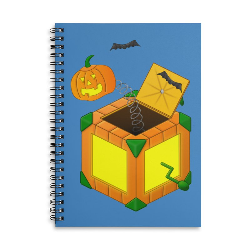 Jack-O-Lantern-In-The-Box Accessories Notebook by Eriklectric's Artist Shop
