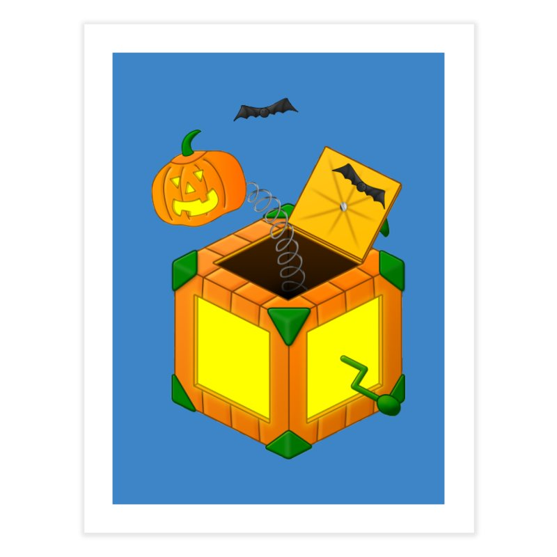 Jack-O-Lantern-In-The-Box Home Fine Art Print by Eriklectric's Artist Shop