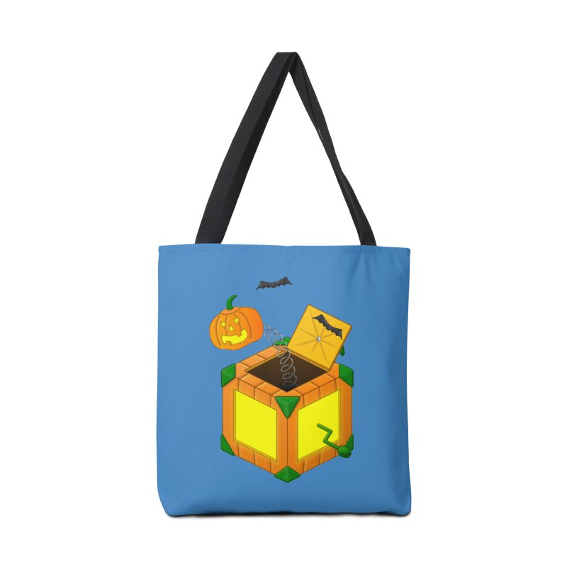 Jack-O-Lantern-In-The-Box Accessories Bag by Eriklectric's Artist Shop