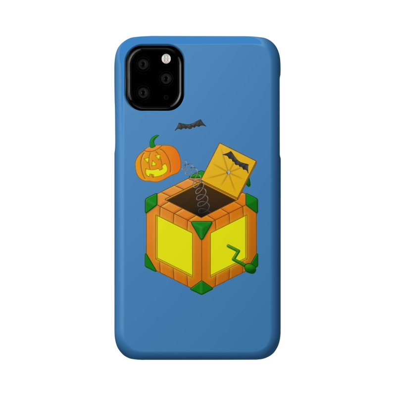 Jack-O-Lantern-In-The-Box Accessories Phone Case by Eriklectric's Artist Shop