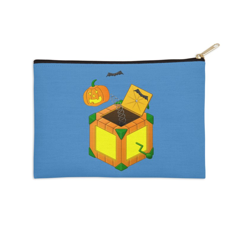 Jack-O-Lantern-In-The-Box Accessories Zip Pouch by Eriklectric's Artist Shop