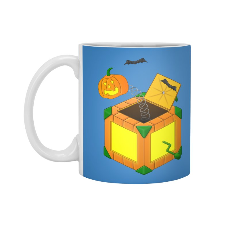 Jack-O-Lantern-In-The-Box Accessories Mug by Eriklectric's Artist Shop