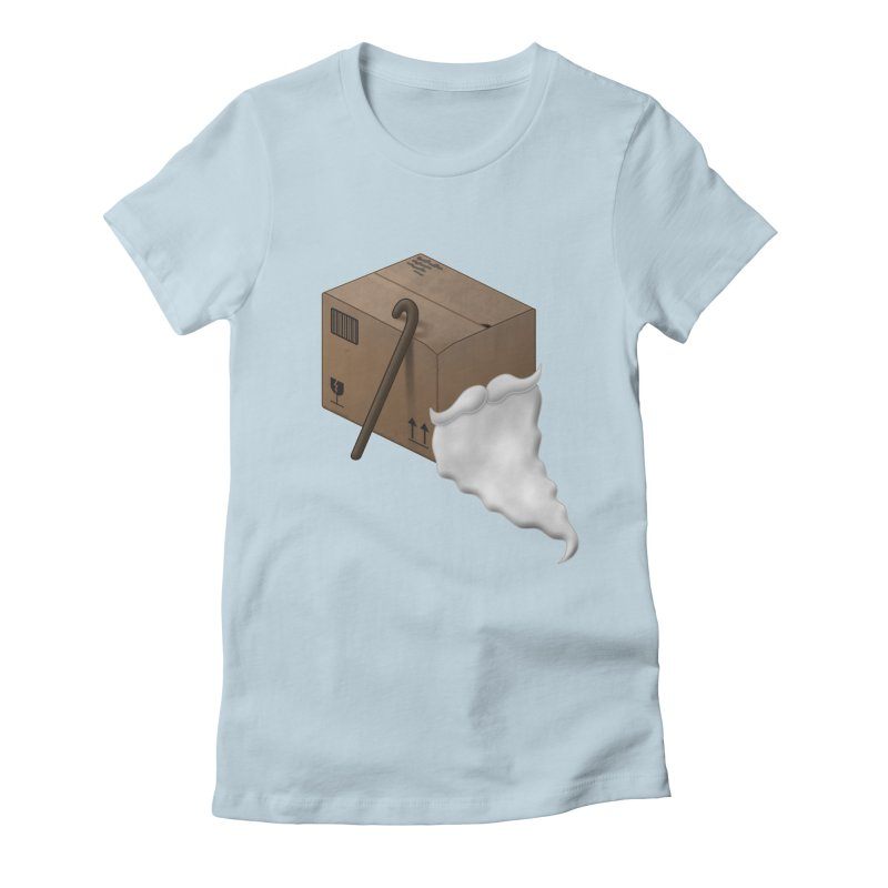 Pack-age Women's Fitted T-Shirt by Eriklectric's Artist Shop